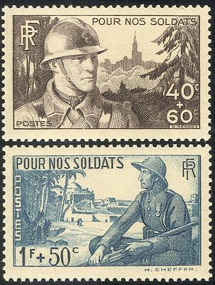 France 1940 Military/Army/Soldiers/Welfare Fund/War/WWII 2v set (n43409)