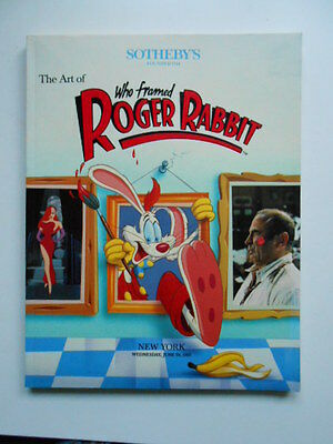 Who Framed Roger Rabbit movie rare limited Sothebys auction catalogue 1980s?