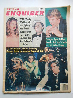Star Wars issue National Enquirer rare full newspaper 1983