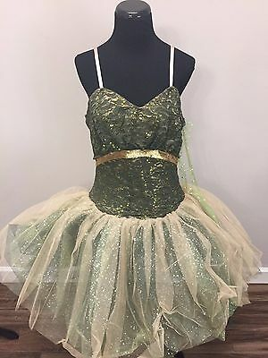 """Curtain Call~Green """"seasons""""~Solo Ballet Contemporary~Adult 2Xl New"""