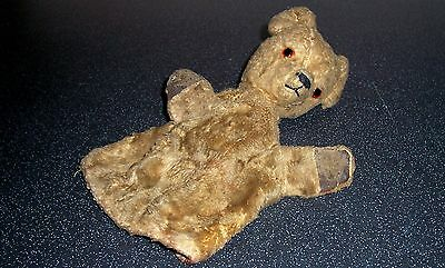 Vintage SOOTY GLOVE PUPPET - Harry Corbett - Leather Pads and Glass Eyes 1950's?