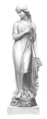 PRETTY INNOCENT PURE YOUNG GIRL WOMAN VIRGIN ~ Antique 1859 Art Print Engraving