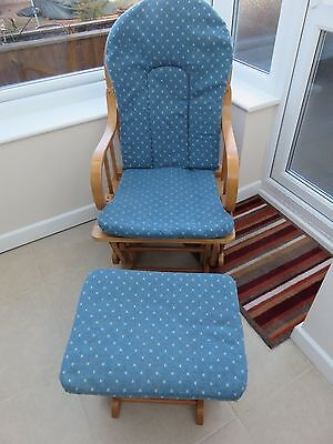 Nursery/ Rocking Chair With Rocking Foot Stool