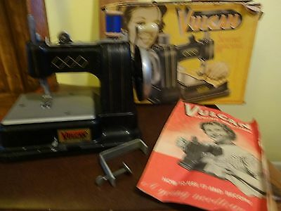 Vintage early 1950's Vulcan Sewing Machine in Good Condition + Box instructions