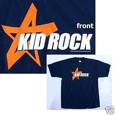 Kid Rock! Star And Name Logo Navy Blue T-Shirt Med New!