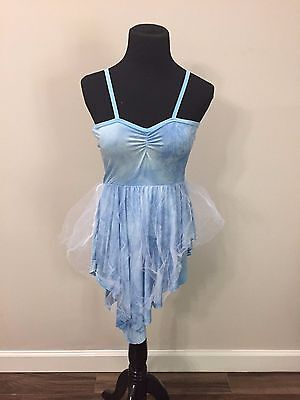 """Curtain Call Costume~""""cloud"""" Ballet, Lyrical Solo, Tap~Adult Small New"""
