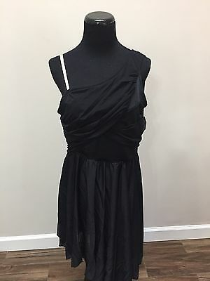 """Curtain Call~Black~""""moonstone"""" Solo Ballet Contemporary~Adult 3X-Large New"""