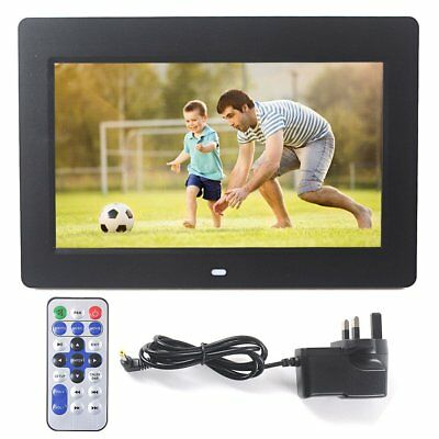 "10.2"" Digital Photo Picture Video Frame Black Support SD Card + Remote Control"