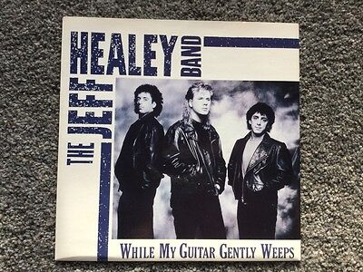 "The Jeff Healey Band ""While my guitar gently weeps"". 7"" vinyl single."