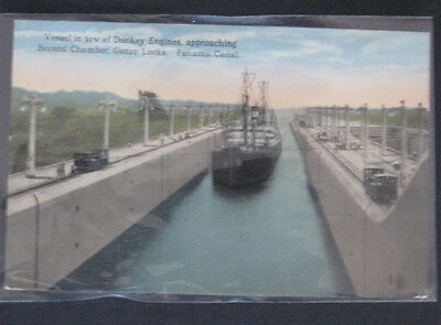 2 Postcards Sinking th Maine & Panama Canal 1912 or later