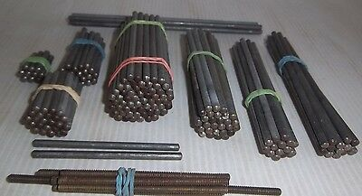 150 Assorted Meccano Rods & 7 Screwed Rods