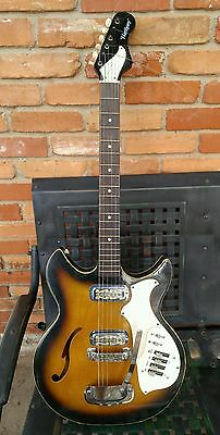 """RARE Vintage 1960's Harmony """"Rebel"""" H683 electric guitar Great Sound!!"""