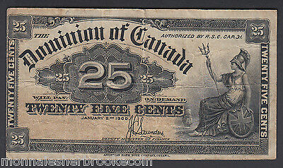 1900  25 Cents Shinplaster - J.C. Saunders - Dominion of Canada - B658