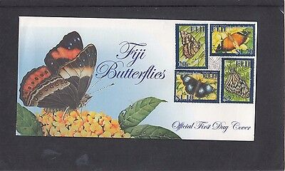 Fiji 20007 Butterflies First Day Cover FDC Fiji pictorial h/s