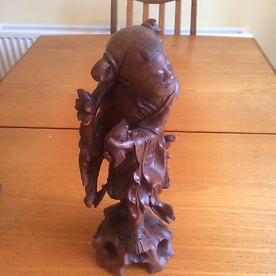 Solid Wood Oriental Man Figure Antique Chinese Japanese ?