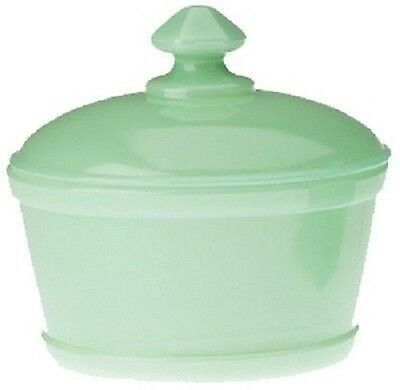 Covered Tub / Butterdish - Jadeite Jadite Jade Green Glass - Mosser USA