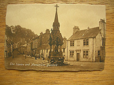Dunkeld, Square & Monument With People