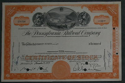 The Pennsylvania Railroad Company 1959  10 Shares