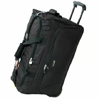 Dielle 79L Wheeled Travel Trolley Suitcase Luggage Holdall Duffle Bag
