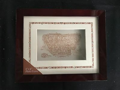 "Disney Disneyland 4""x 6"" 1955 Map Frame New MIB rare"