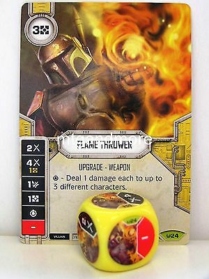 Star Wars Destiny - 1x #024 Flame Thrower + Die - Awakenings