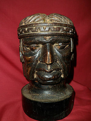 Antique carved wooden  figure head - wood/woodenware