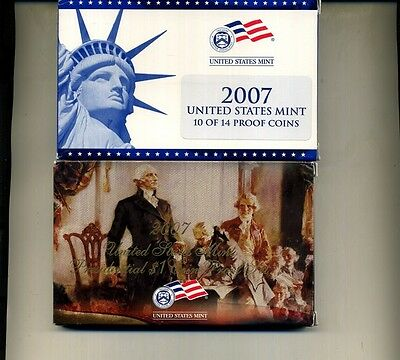 2007 S United States 14 Coin Proof Set W/box