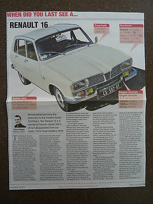 RENAULT 16 - Classic Article
