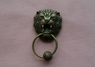 Dolls House Lion Head  Door Knocker With Knurled Knocker
