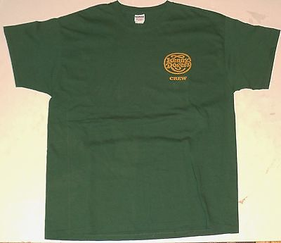 Kenny Rogers Crew T-shirt Green Country Tour Shirt Size XL Concert Crew