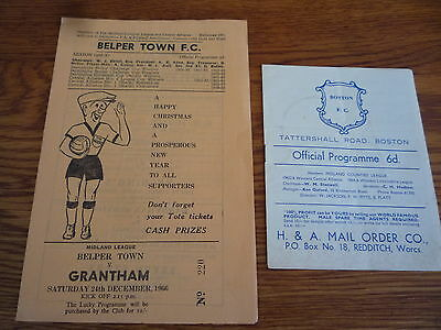 2 x Grantham Town 1960s. Midland Non League Football Programmes