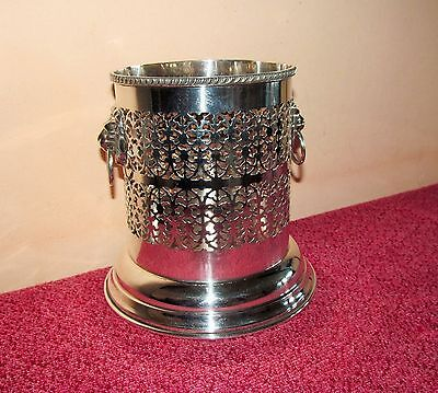 Super vintage large Viners Silver plated wine bottle holder, wine bottle coaster
