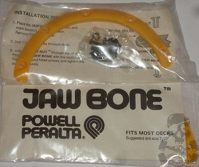POWELL PERALTA - '80s Skateboard Jaw Bone - Yellow / For the nose of your deck