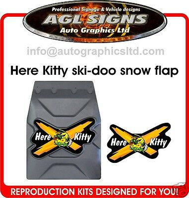 Here Kitty Kitty Decal for SKI-DOO SNOWFLAP SNOWGUARD rev mxz mach xp