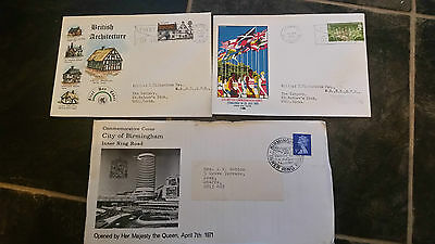 3 First Day Covers From 1970 And 1971