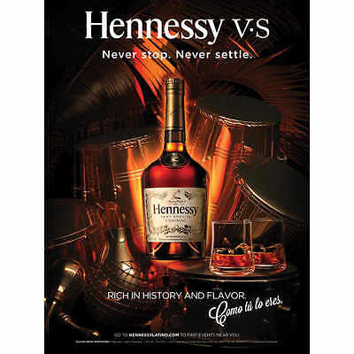 Hennessy Never Settle   Poster   New  18 By 27