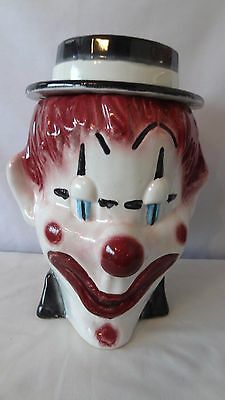 Brush McCoy Pottery Clown Head 1970 W49 Cookie Jar #H946.