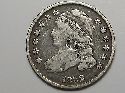 1832 Silver US Bust Dime.  #14