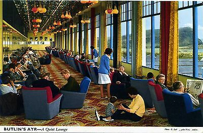 Butlin's Holiday Camp - Ayr - A Quiet Lounge - Postcard View