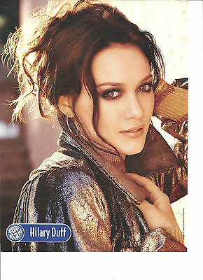 Hilary Duff, Emily Osment, Double Sided Full Page Pinup