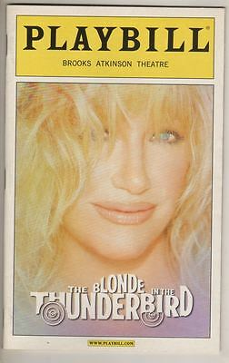 """Suzanne Somers  """"The Blonde in the Thunderbird""""  Playbill  2005  Broadway   FLOP"""