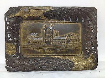 1904 St. Louis Worlds Fair Tin Litho Tip Tray ~ Administration Building