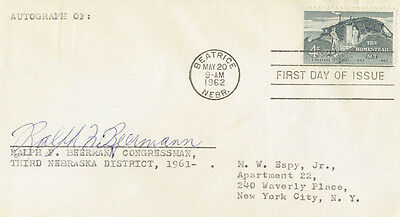 Ralph Frederick Beermann - First Day Cover Signed