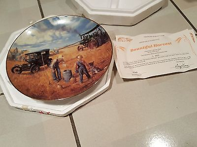 """Knowles Collector Plate """"Bountiful Harvest"""" by Emmett Kaye"""