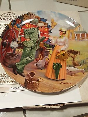 """Oklahoma Collector Plate """"I Cain't Say No"""" by Mort Kunstler"""