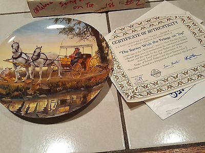 """Oklahoma Collector Plate """"The Surrey With the Fringe on Top"""" by Mort Kunstler"""