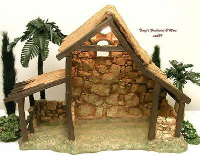 """Fontanini Depose Italy 5"""" Lited 1996 Stable Nativity Village Building 50154 Mint"""