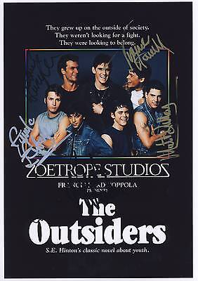 SIGNED THE OUTSIDERS  MOVIE POSTER PRINT 12x8