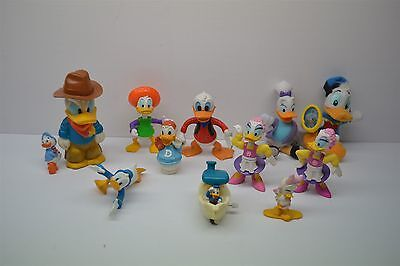 "Lot of 12 Disney Donald Duck & Friends PVC Toys Cake Topper Toys 2"" - 5"" Tall"