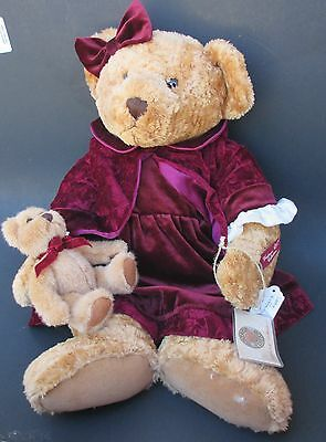 """rb1 Vintage Edition LADY VICTORIA Russ Berrie PLUSH TEDDY BEAR 21"""" HUGE retired"""